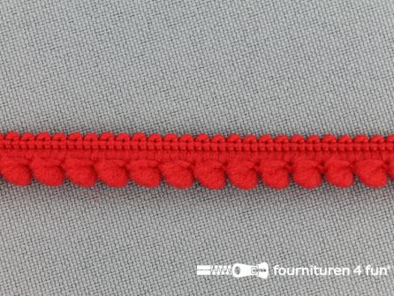 Bolletjesband 10mm rood