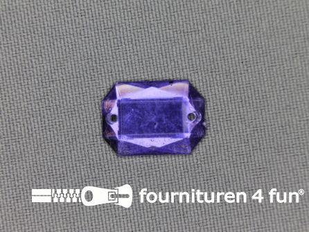 Strass steen 12mm rechthoek lila