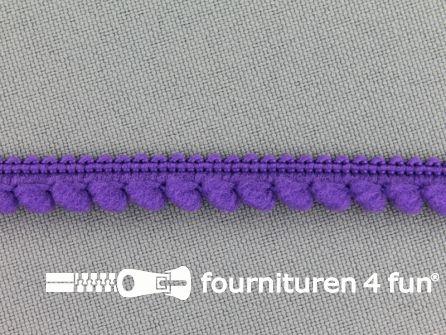 Bolletjesband 10mm paars