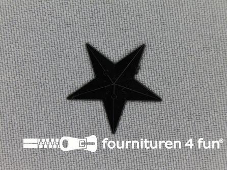 Strass steen 21mm ster zwart