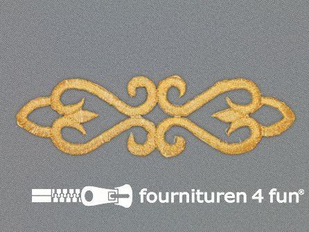 Barok applicatie 35x125mm goud