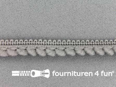 Bolletjesband 10mm grijs