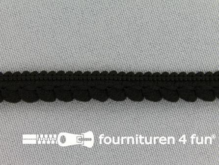 Bolletjesband 10mm zwart