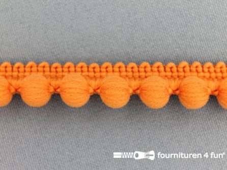 Bolletjesband 15mm oranje