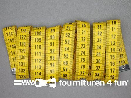 10 stuks Centimeter - 150cm - geel / zwart