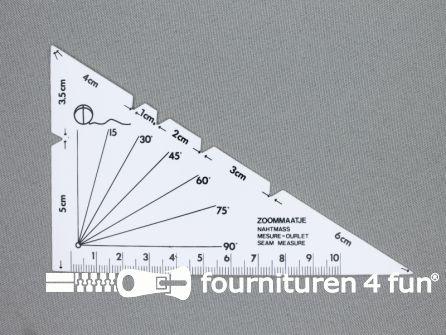 Zoommaatje 10cm driehoek wit