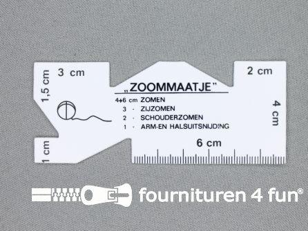 Zoommaatje vierkant kunststof wit