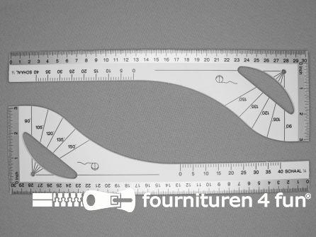 Patroonliniaal 30cm wit