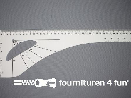 Patroonliniaal 60cm wit 10 stuks