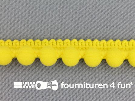 Bolletjesband 15mm fel geel