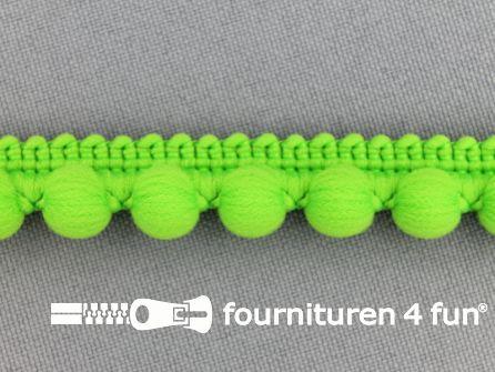 Bolletjesband 15mm lime groen