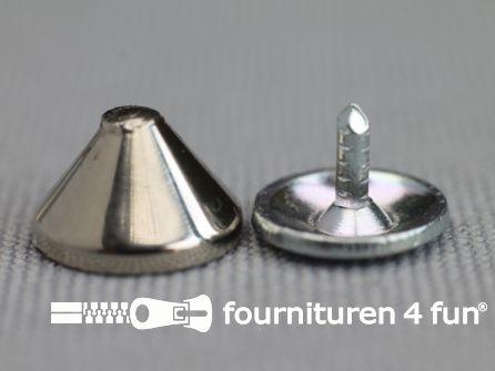 Studs 10mm kegel chroom 10 stuks