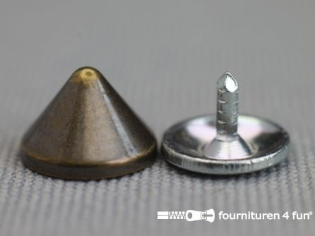 Studs 10mm kegel brons 10 stuks