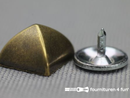 Studs 10mm piramide brons 10 stuks