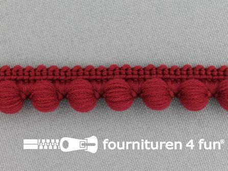 Bolletjesband 15mm bordeaux