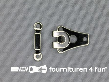 Broekhaak 10mm zilver