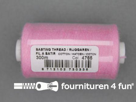 Rijggaren 300 meter licht roze - 100% katoen