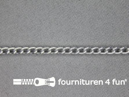 Ketting 3mm zilver