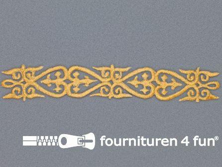 Barok applicatie 25x180mm goud