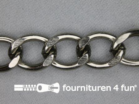 Ketting 18mm zwart zilver