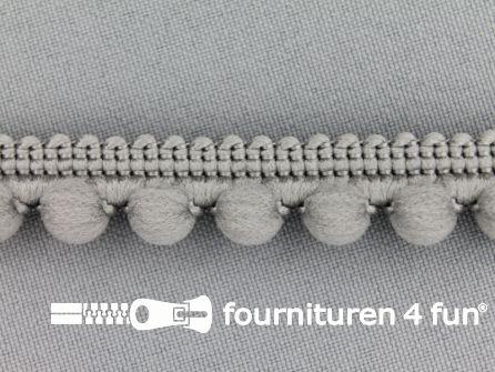 Bolletjesband 15mm grijs