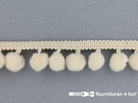 Bolletjesband 18mm ecru