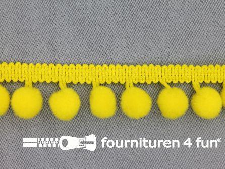Bolletjesband 18mm fel geel