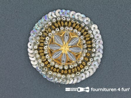 Broche 40mm zilver
