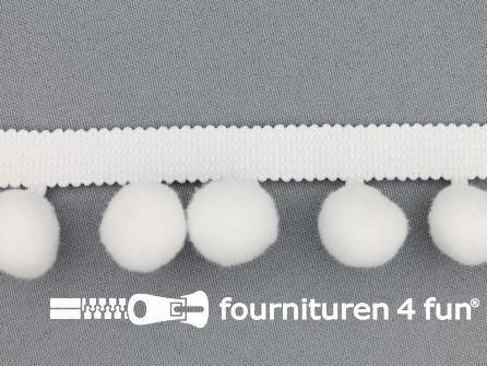 Bolletjesband 40mm wit