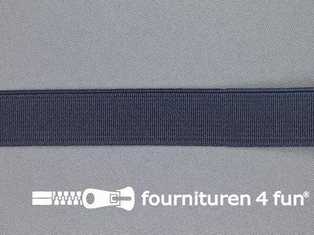 Gekleurd stevig elastiek 20mm marine blauw