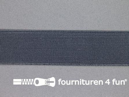 Gekleurd stevig elastiek 30mm grijs