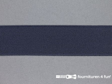 Gekleurd stevig elastiek 30mm marine blauw