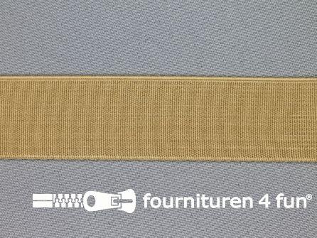 Gekleurd stevig elastiek 30mm beige
