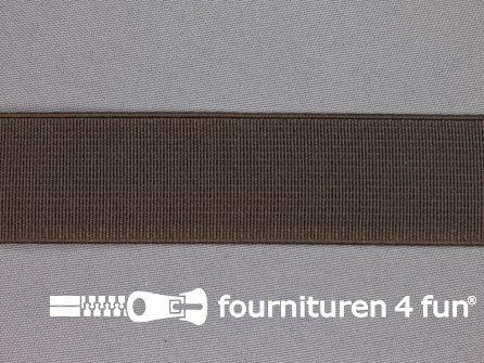 Gekleurd stevig elastiek 30mm donker bruin