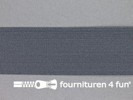 Gekleurd stevig elastiek 40mm grijs
