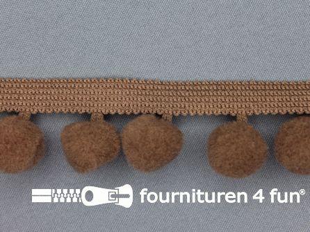 Bolletjesband 40mm cacao bruin