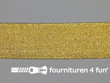 Ceintuur elastiek 40mm goud