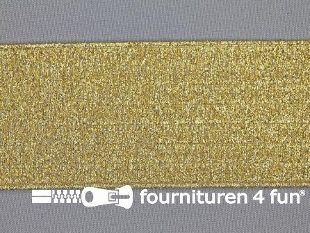 Ceintuur  elastiek 60mm goud