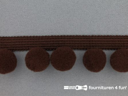 Bolletjesband 40mm donker bruin