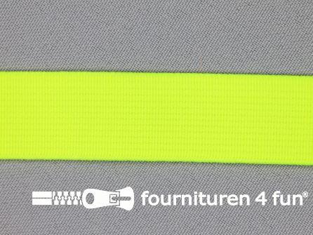 Gekleurd soepel elastiek 20mm neon geel
