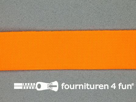 Gekleurd soepel elastiek 20mm neon oranje