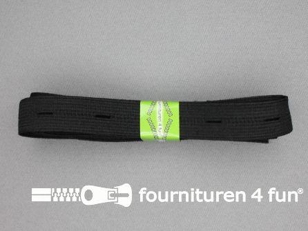 Knoopsgaten elastiek 20mm zwart 2 meter