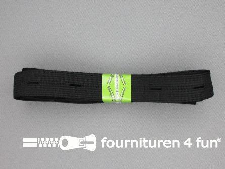 Knoopsgaten elastiek 18mm zwart 2 meter