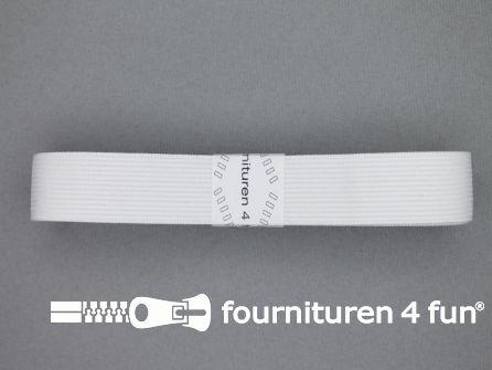 Band elastiek 22mm soepel wit 2 meter
