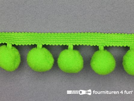 Bolletjesband 40mm lime groen