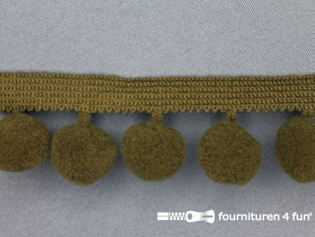 Bolletjesband 40mm leger groen