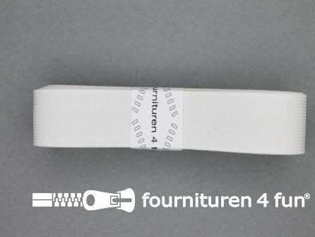 Band elastiek 25mm stevig wit 2 meter