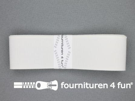 Band elastiek 40mm stevig wit 1 meter