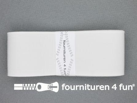 Band elastiek 50mm stevig wit 1 meter
