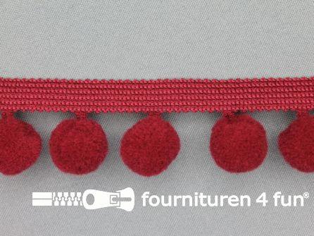 Bolletjesband 40mm bordeaux